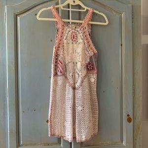 Free People Crochet Mini Dress